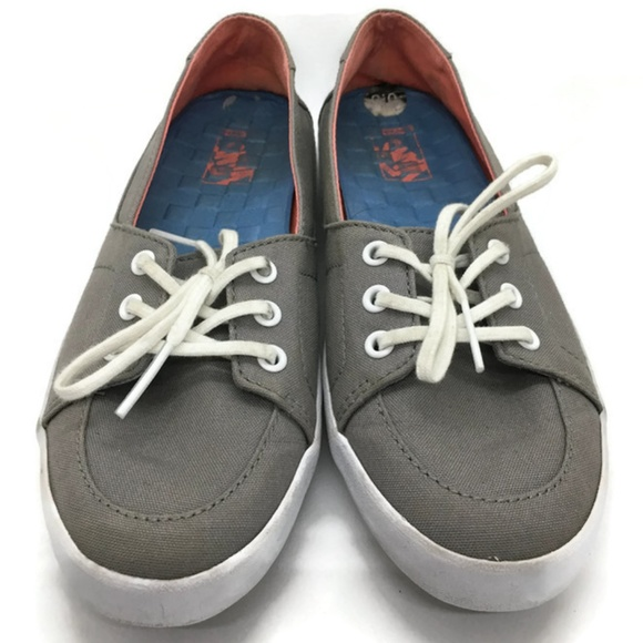 47f6a0369f Vans Off the Wall Gray Canvas Sneakers Sz 6.5. M 5c3df003619745aa266fafbd